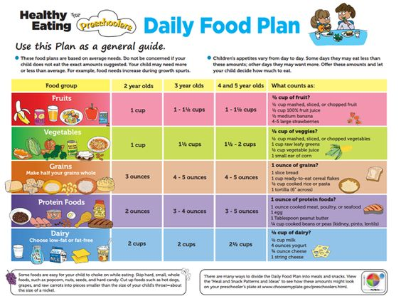 healthy eating for preschoolers daily food plan | kids | Pinterest ...