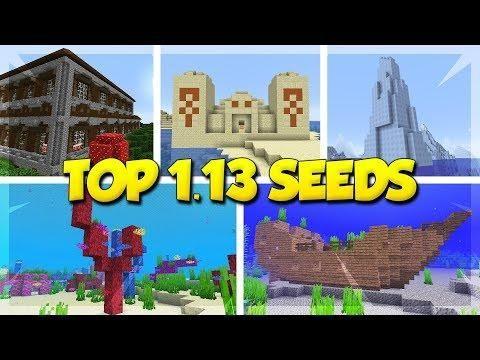 Top 5 Seeds For Minecraft 1 13 Minecraft Update Aquatic Seeds