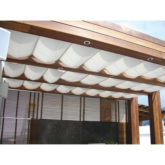 toldo palilleria para techo o domo solair tela sunbrella On toldos para techos