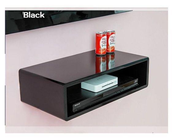 details about wall mount shelves cube floating dvd hifi. Black Bedroom Furniture Sets. Home Design Ideas