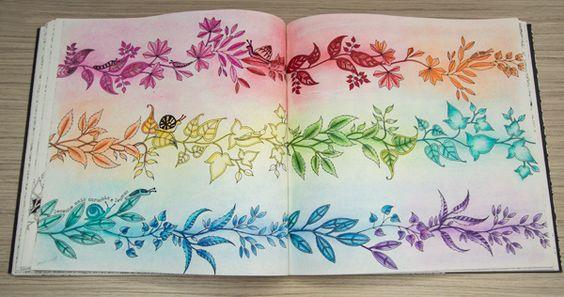 O livro Jardim Secreto nas unhas (e o que eu pintei até agora)