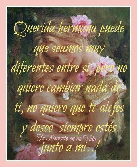 Querida hermana ...