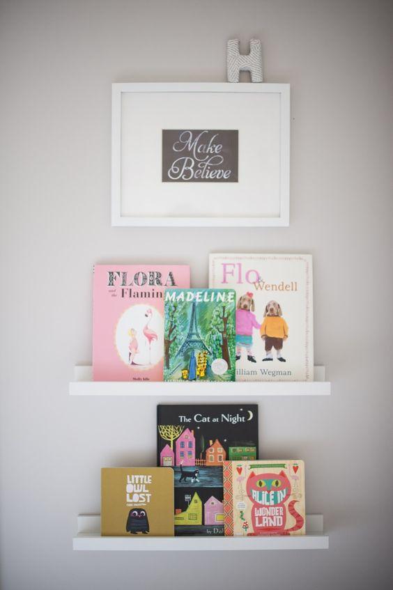 Make believe shelves book ikea book displays toddlers hanging wall art