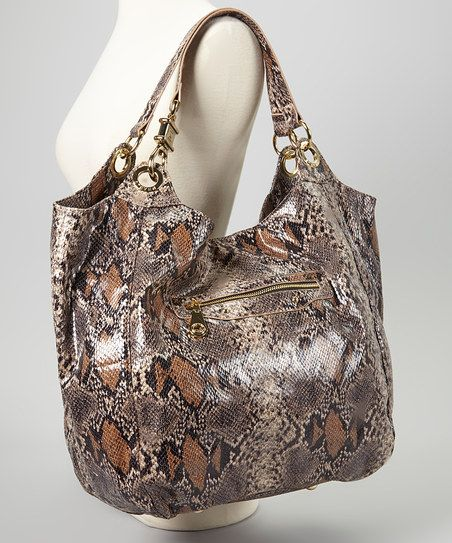 Brown Snake Tote by Steve Madden 44.99
