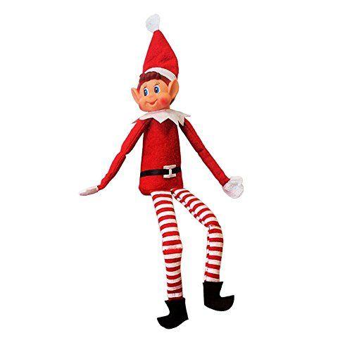 """12/""""Red Long Leg Soft Vinyl Face Girl ELF with Hat Playtec Best gift for Girls"""