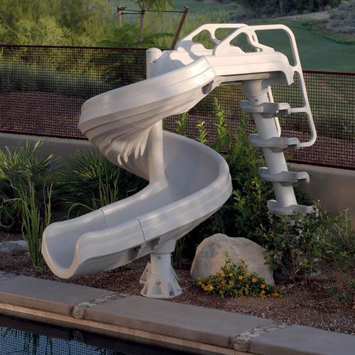 G-Force Super Pool Slide - Water pool slides http://www.intheswim.com/p/g-force-2-super-pool-slide