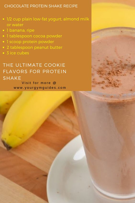 Chocolate protein shake recipes for muscles gin