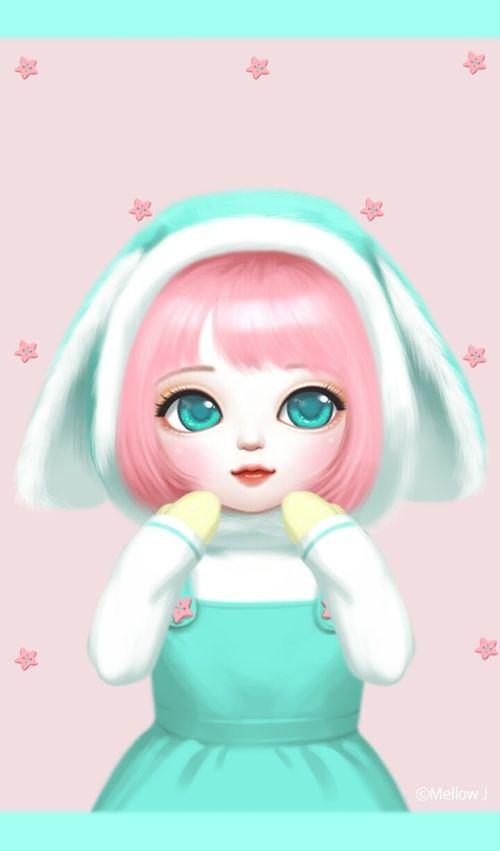 Https Weheartit Com Entry 305323197 Cartoon Girl Images Cute Girl Wallpaper Cute Kawaii Girl