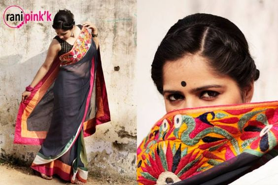Embroidered saree border