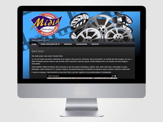 Criação de layout e codificação do site Mídia Produções.