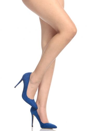 Royal Blue Faux Suede Pointy Toe Classic Pumps