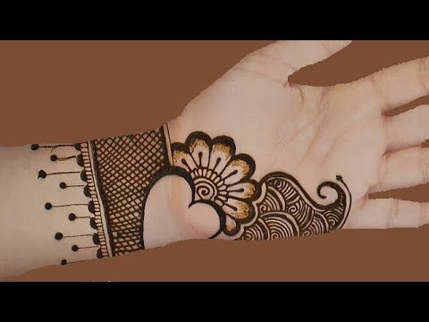 stylish and easy mehndi designs for front hand