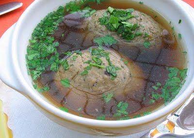 Leberknödelsuppe (liver dumpling soup)