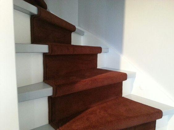 Ook een hele mooie traploper gemaakt van tapijt van lano deze loper hebben we volledig verlijmd - Redo houten trap ...
