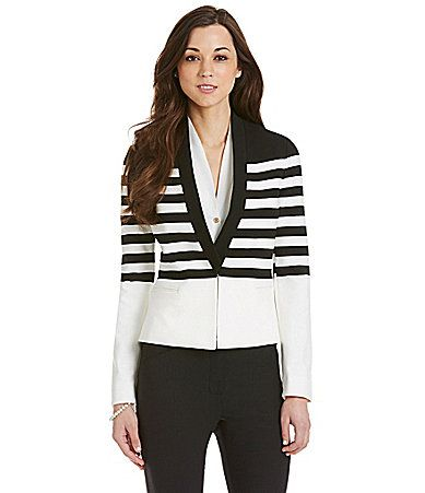 Antonio Melani Juli Striped Jacket #Dillards