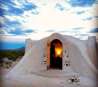 Check out this awesome listing on Airbnb: Off-grid Adobe Dome in the Desert in Terlingua