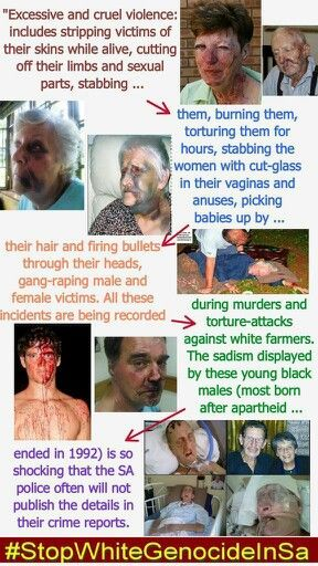 I'm posting this here to cause awareness... Did you know white genocide which is happening in South Africa??.......