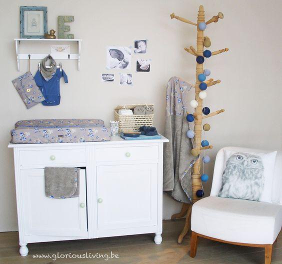 Unisex babykamer in wit en beige met de collectie ping ping pepper van glorious lou baby chic - Babykamer beige en wit ...