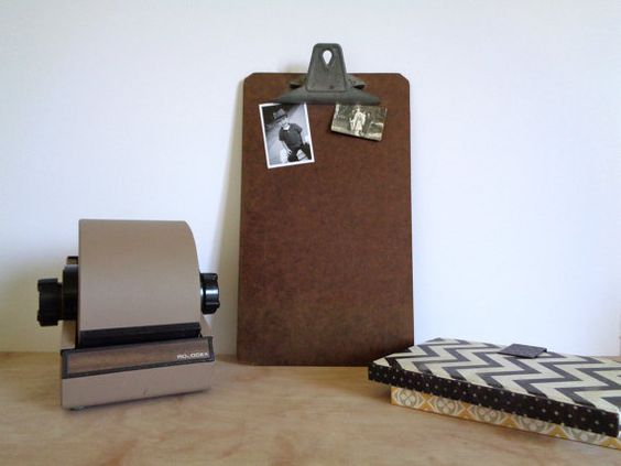 Vintage Long Brown Wooden Clipboard  Legal Size by WhiteElephantCo, $14.00