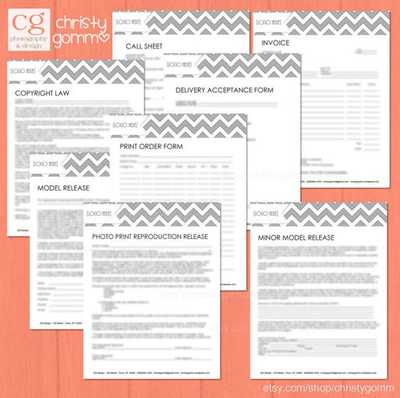 Business Forms, Contracts, Model Release, Etc for Photographers - model release form in pdf