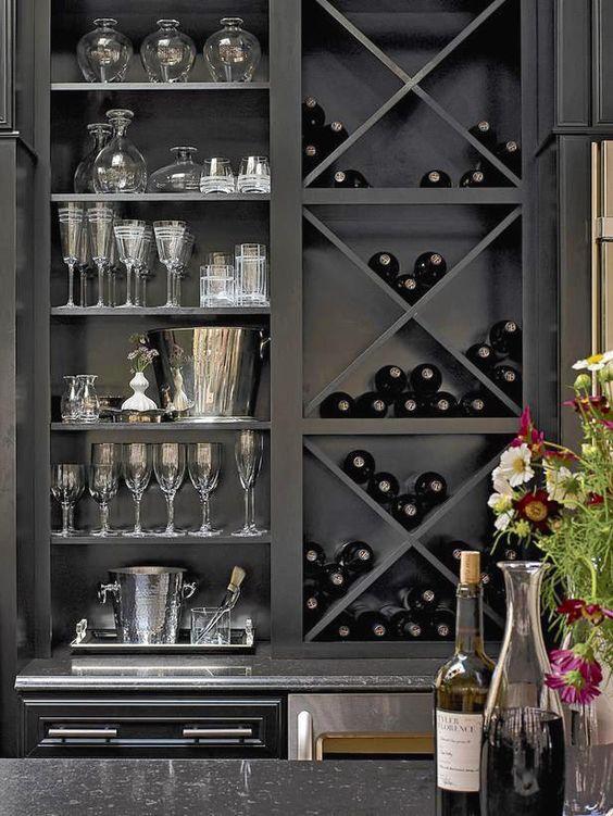 builtin bookshelf home interior design wet bars wine rack and