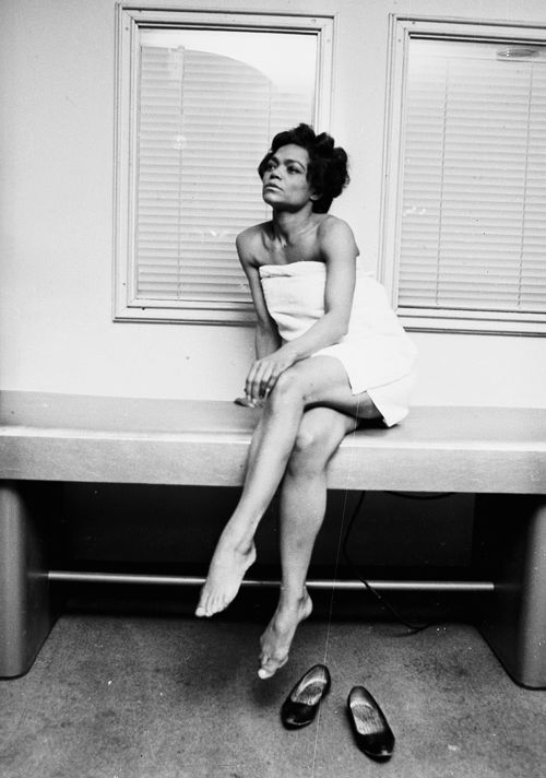 Eartha Kitt at the Town and Country Health Salon in London, photographed by Harry Benson, 1965