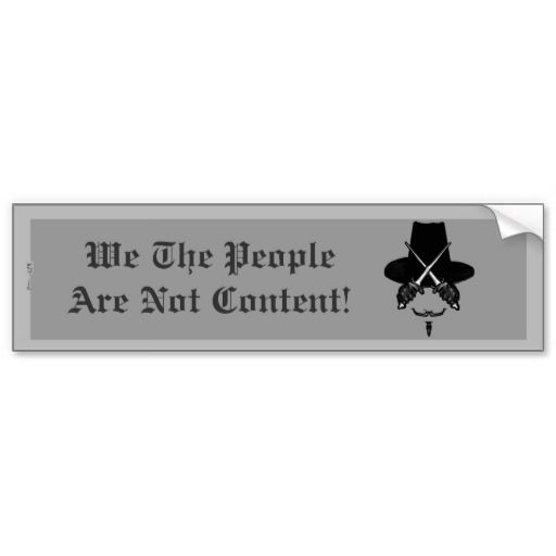 Empower The Discontent (Fawkes). Bumper Sticker
