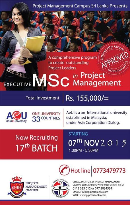 Executive MSc in Project Management  Executive MSc in Project Management