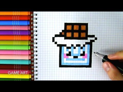 Handmade Pixel Art How To Draw Kawaii Strawberry Pixelart