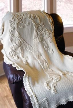 Crochet Afghan Pattern For Wedding Gift : Tree of Love Heirloom Crochet Afghan. This would make a ...