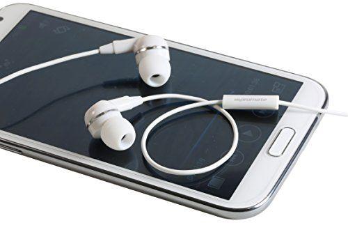 بروميت سماعة اذن مع مايك مدمج لاجهزة اي In Ear Buds Headphone Headset Accessories Handsfree