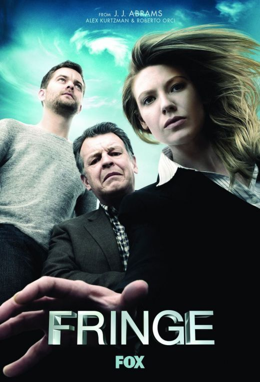 """""""Fringe"""".  Peter and his father Walter Bishop help FBI agent Olivia Dunham with strange cases."""