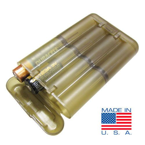 19 8 Aud Tactical Battery Holder Case Storage Box Us1017 Aaa Aa Cr2 Cr123 Made In Usa Ebay Electronics Battery Cases Get Home Bag Battery Holder