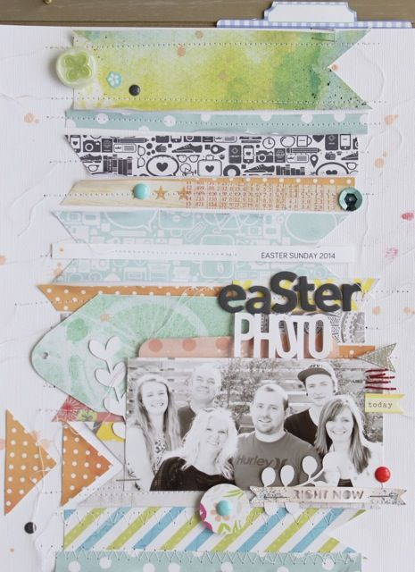 #papercraft #scrapbook #layout.  By Kim Archer | As seen in Jot Magazine Issue 6.