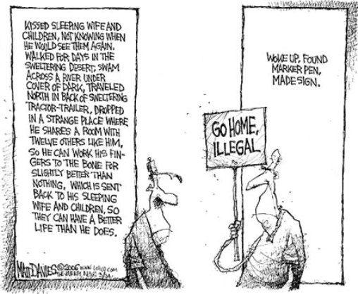 student political cartoons immigration political
