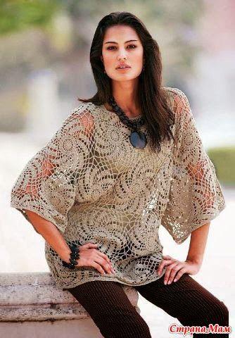 Katia Ribeiro Moda & Decoração Handmade: Túnica em crochê com gráfico