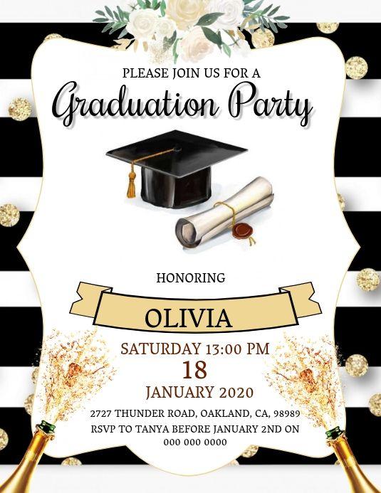 Graduation Party Invitation Template Graduation Party Invitations Graduation Party Invitations Templates Graduation Party