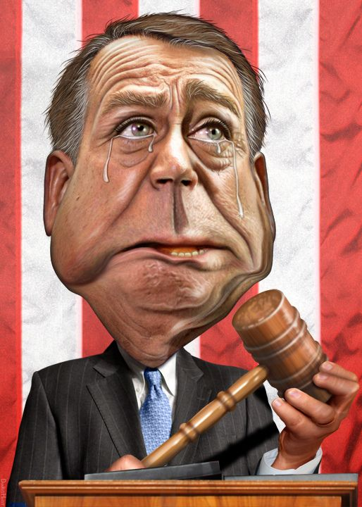 John Boehner - Caricature | by DonkeyHotey