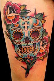 immagine tatuaggio teschio messicano.