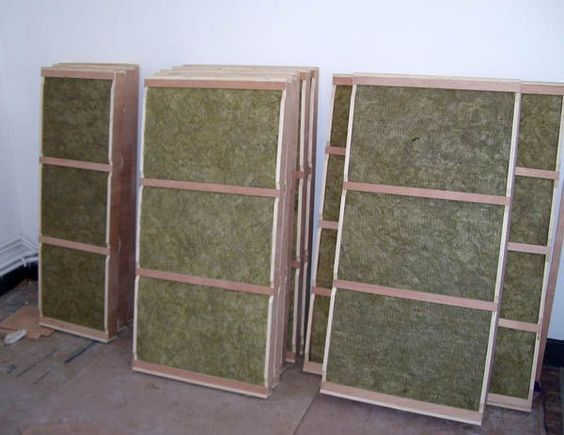 Home made acoustic panels interior for Sound proof wall padding