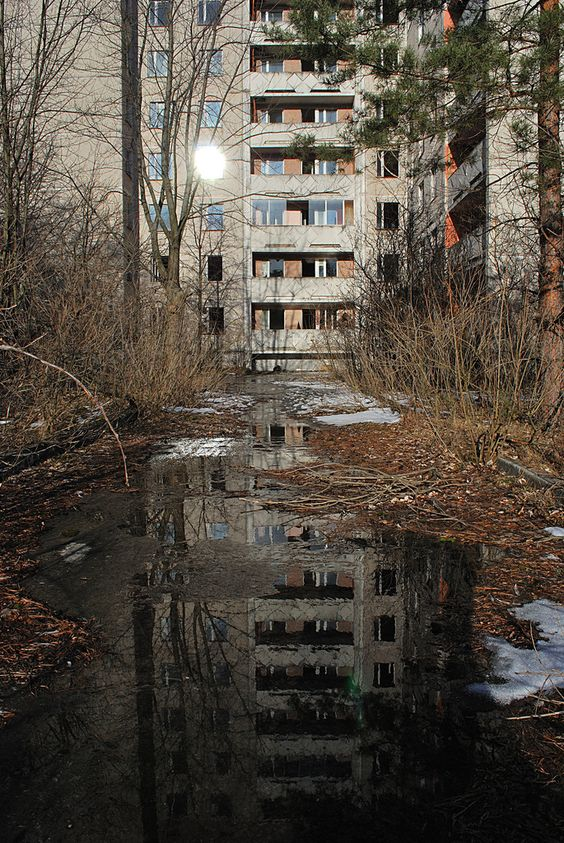 Abandoned city of Pripyat.                                                                                                                                                      More