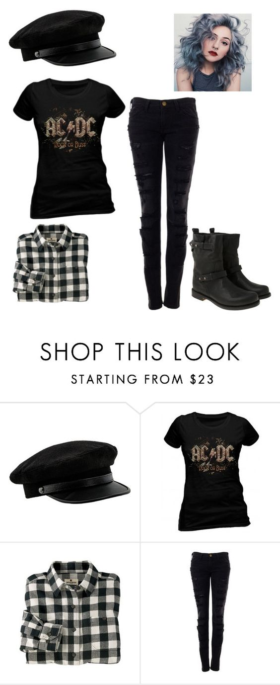 """Highway to Hell//AC/DC"" by coffeeismysoul ❤ liked on Polyvore featuring Woolrich, Current/Elliott and rag & bone"