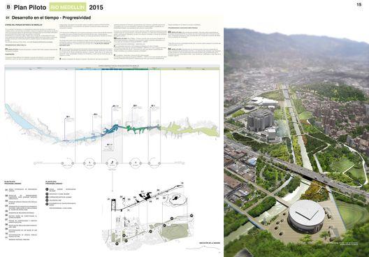 Primer Lugar Concurso Público Internacional de Anteproyectos Parque del Río en la ciudad de Medellín,Lámina 15. Image Courtesy of Equipo Primer Lugar