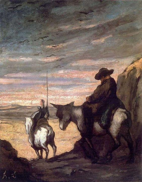 Don Quixote and Sancho Panza Honoré Daumier :1868