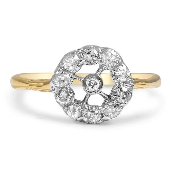 18K Yellow Gold, 18k White Gold The Kati Ring from Brilliant Earth
