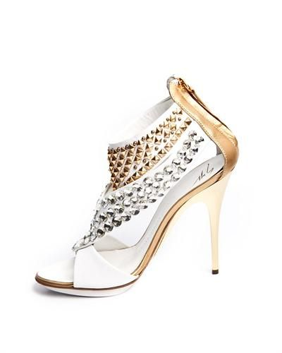 Giuseppe Zanotti Studded Heeled Sandals Made In Italy