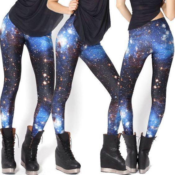 Galaxy Stars Digital Printing Leggings Yoga Pants Tights Workout - Street Style,Yoga,Dance,Korea,Hip Hop,Jazz Funk,Rock,Funky,Skinny #F074 by EcoCorner on Etsy https://www.etsy.com/listing/233241161/galaxy-stars-digital-printing-leggings