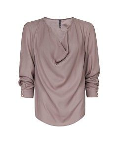 Blusa escote drapeado
