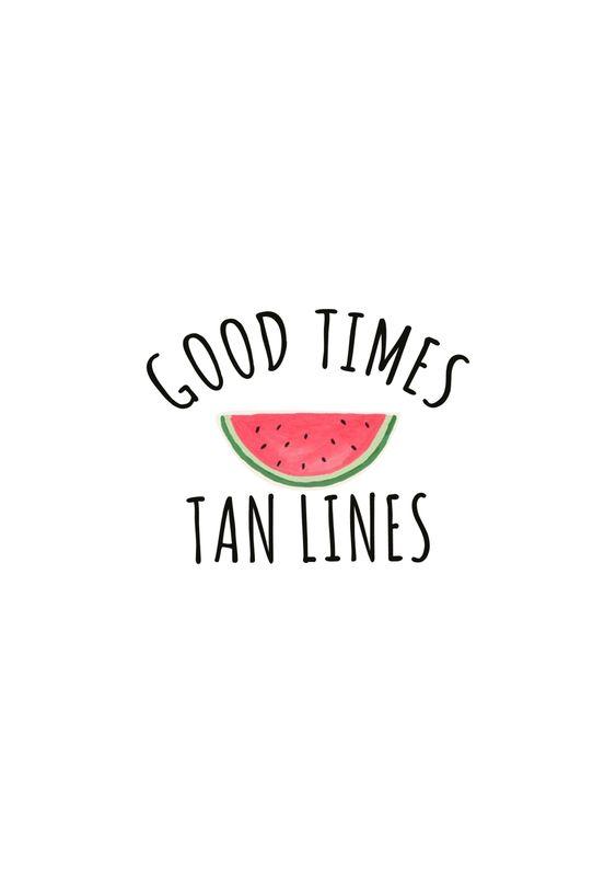 Good Times Tan Lines #summer