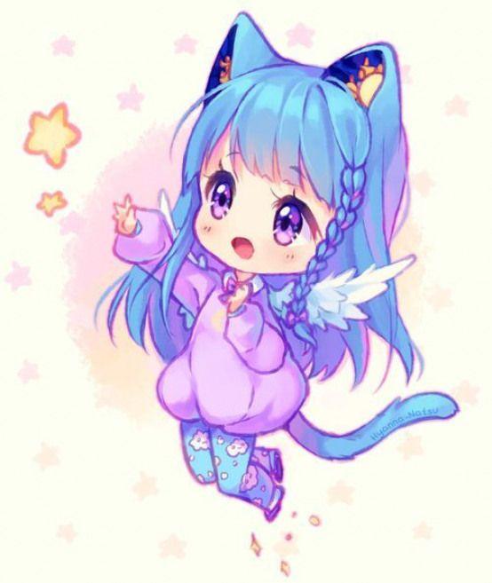 Cat Cat Girl Cute Anime Chibi Chibi Girl Chibi